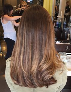 Reverse Bronde Ombre - Reverse Ombre Hair with Perfect Fades Into Browns and Blacks - The Trending Hairstyle Haircuts For Long Hair Straight, Long Face Hairstyles, Long Hair Cuts, Long Hair Cut Straight, Thin Hair, Wavy Hair, Medium Long Hair, Medium Hair Cuts, Medium Hair Styles