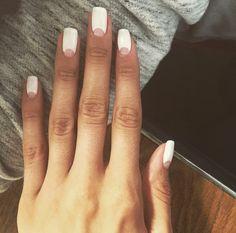 Negative Space Minimal Moon Gel Nails