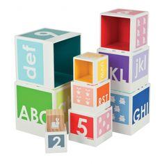 Cubes d'éveil en bois Pyramide Color I Wood Janod