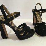 sandali+decolte+scarpe+donna+sam+edelmam+camoscio+36+37,5+38,5+US+6M+7M+tacco+12
