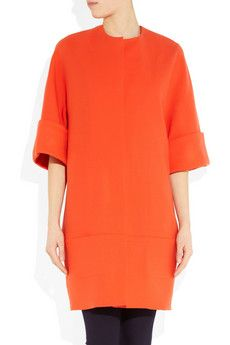 Neon Trend:  Victoria Beckham Stretch-wool Coat  This would work with double knit also.