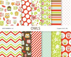 Hey, I found this really awesome Etsy listing at https://www.etsy.com/uk/listing/177982891/owl-digital-paper-pack-owl-scrapbook