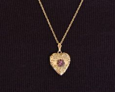 For $100 my happiness would be ENDLESS: antique, gold, amethyst, LOCKET?! srlsy people.