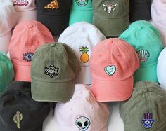 Baseball Hat with Embroidered Patch - Your Choice of Patch & Cap Color!  Dad Hat -  Wildflower + Co.