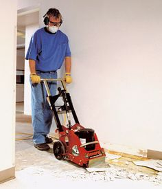 How to remove linoleum quickly and easily guest bath for Concrete floor cleaner hire