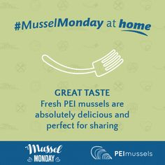 Great Taste: Fresh PEI Mussels are absolutely delicious and perfect for sharing Mussels, A Table, Fresh, How To Make, Clams, Blue Mussel
