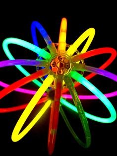Rainbow glow stick ball color pop