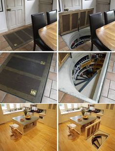 Mat Hidden Wine Cellar