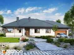 gotowy projekt Dom w alwach 3 Modern House Design, Home Fashion, Mansions, House Styles, Outdoor Decor, Home Decor, Nice Houses, Facades, Decoration Home