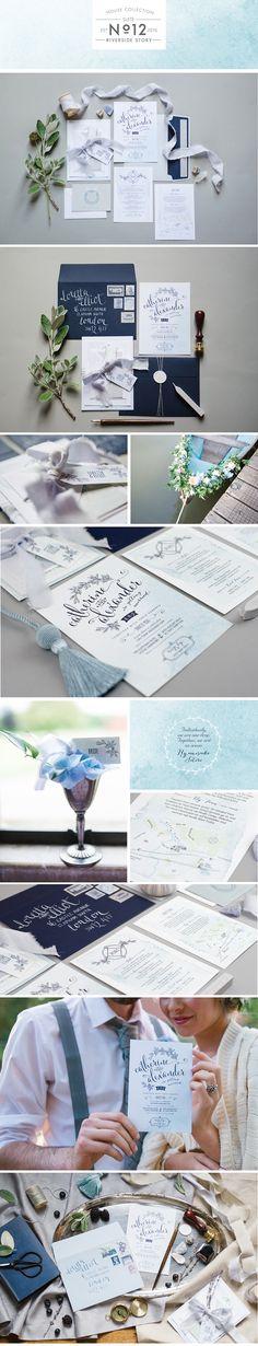 Paperknots Riverside Story Wedding Stationery (images by Hannah McClune) http://www.paperknots.co.uk/portfolio/riverside-story/