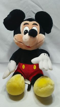 Vintage Mickey MOUSE PLUSH DOLL Walt disneyLAND world official MERCHANDISE #Disney