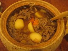 Nikijaga Japanese Soup, Pot Roast, Beef, Meals, Ethnic Recipes, Food, Power Supply Meals, Roast Beef, Meal
