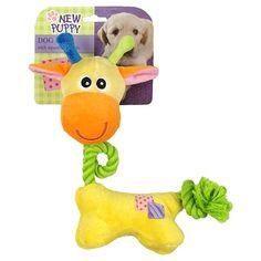 Brinquedo para Cães Puppy Rope Neck Giraffe AFP - MeuAmigoPet.com.br #petshop #cachorro #cão #meuamigopet