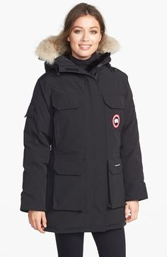 Free shipping and returns on Canada Goose 'Expedition' Down Parka at Nordstrom.com. Originally developed for scientists at McMurdo station in Antarctica, an iconic parka offers extreme weather protection for all winter adventurers. A rugged water-resistant shell stands the test of time, while a superior 625-fill-power down blend offers incomparable warmth when temperatures plummet. A lush ring of genuine natural coyote fur tops the attached hood. Four roomy cargo pockets in front and one on ...