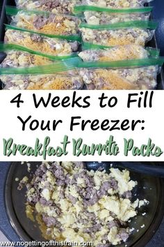 Freezer burritos gets hard when you reheat. Make these breakfast burrito packs instead! They're easy to make and reheat much better! #breakfast #burrito #freezermeal #easymeal #recipe