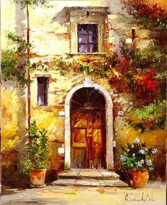 Russian artist Gleb Goloubetski | Sunny Tuscany 100x80 2006