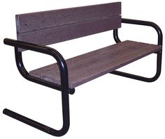Round Tube Benches, Cantilever Style: For a clean, modern look, surface mountable Round Tube Park Benches are both sturdy and competitively priced. - Iowa Prison Industries