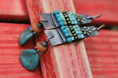 Rustic Heshi Turquoise AlegriaAlegria Series by Tribalis on Etsy, $39.00