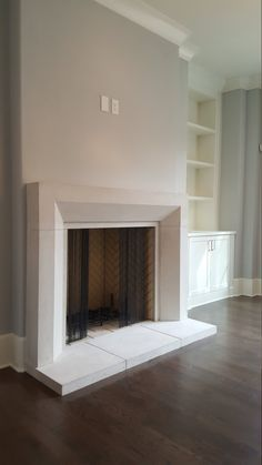 Contemporary Cast Stone Fireplace Mantel - Made to order to any dimension. CAST STONE Fireplace Mantel This mantel can be made in several size - Modern Stone Fireplace, Stone Fireplace Surround, Mantel Surround, Stone Fireplace Mantel, Natural Stone Fireplaces, Limestone Fireplace, Custom Fireplace, Concrete Fireplace, Home Fireplace