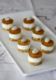 Cheesecake mignon al Caprino, cantuccini e Vinsanto di Cristina