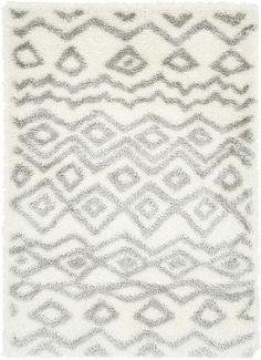 Ivory Luxe Trellis Shag Area Rug