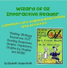 The ageless tale of Dorothy, Scarecrow and her friends comes to life with infused vocabulary, interactive text and Common Core State Standards aligned lessons to go with each chapter. This is a novel and workbook combined -- perfect for educators who want embedded higher order thinking activities at the turn of every page.