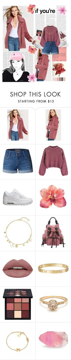 """""""♪º we""""ll go where nobody goes with guns underneath our petticoats º♪"""" by thaniahjcat ❤ liked on Polyvore featuring LE3NO, NIKE, Louis Vuitton, Burberry, Cartier, Huda Beauty and SoapRocks"""