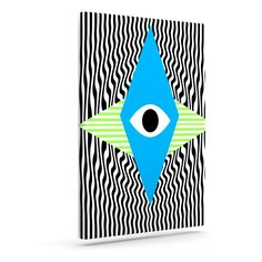 "Vasare Nar ""Eye Optical"" Black Blue Outdoor Canvas Art"