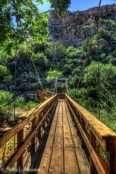 Just Over the Bridge by PhotographyBySaija on Flickr (Superior, AZ)