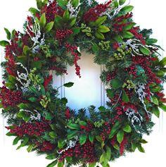 Christmas WreathWinter Wreath  Holiday Wreath by SweetIvyWreaths