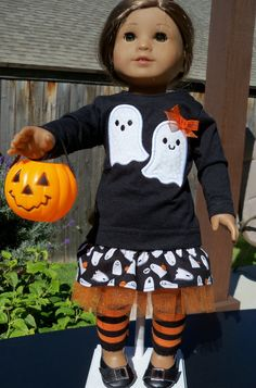 Halloween Ghost Theme Skirt and Top For I8 by ThreadsAndSplinters, $21.00