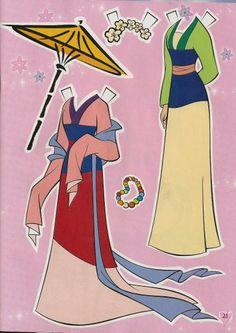 Disney Mulan Paper Doll