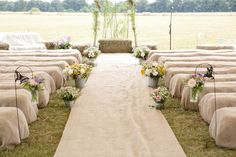 hay bales - Read more on One Fab Day: http://onefabday.com/barn-wedding-by-dasha-caffrey/