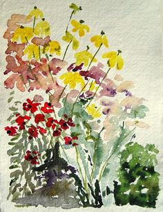 Edinburgh Garden Hike, watercolor