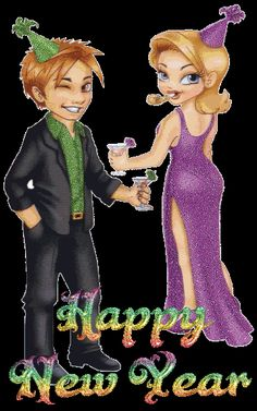 Happy New Year I hope you celebrate with the one you love! Happy New Year Pictures, Happy New Year Gif, Happy New Year Wallpaper, Happy New Year Greetings, Happy New Year Everyone, New Year Wishes, Nouvel An 2018, New Year 2017, Animation