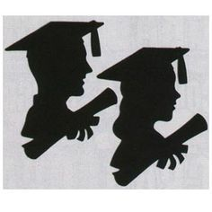 Graduate Silhouettes for sliding glass door Graduation Theme, Graduation Decorations, School Decorations, Graduation Cards, Graduation Silhouette, Kindergarten Graduation, Grad Parties, Vinyl Projects, Paper Cutting