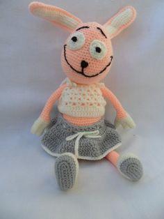 Bunny crochet amigurumi doll toy