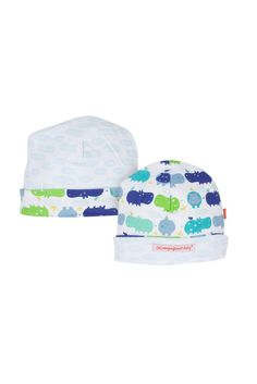 Magnificent Baby Reversible Baby Boy Cap in Boy Hippo. Please use coupon code NewProducts to receive 15% off these items. To receive the discount, please place your order by midnight Monday, April 20, 2015