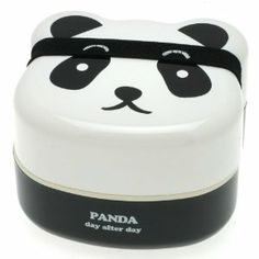 Kotobuki 280-129 2-Tiered Bento Box, Panda Face - Two-tiered bento box with panda bear-shaped face--great for the young and young-at-heart -   Perfectly sized for bringing lunch to school or to the office -   Includes two stacked compartments, stacked separated by fitted plastic lid--great for separating two different dishes -   Made of food-safe plastic -   Top and bottom compartments dishwasher and microwave safe; inner lid not microwave safe and should be hand washed ------ 12.49