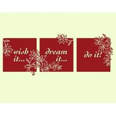 """Style and Apply Wish It Dream It Do It Quote Wall Decal Size: 15"""" H x 39"""" W, Color: Silver"""
