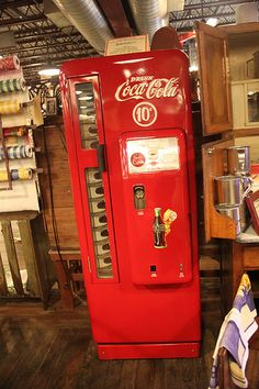 Old Coca Cola Machine.when coke was 10 cents.that was more than a few years ago!