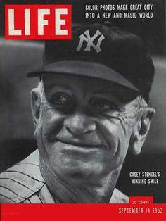 Original Life Magazine from September 14 - Old Life Magazines Yankees News, New York Yankees Baseball, Ny Yankees, Damn Yankees, Famous Baseball Players, Casey Stengel, Life Cover, Life Magazine, People Magazine