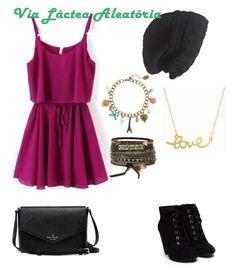 Look com gorro, quer saber como fazer? Entra lá no blog http://vialactealeatoria.blogspot.com/  vestido, bolsa preta, salto preto, vestido encontro