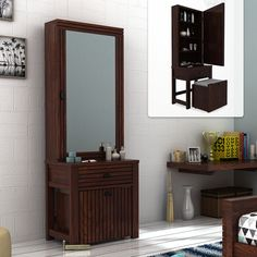 Vintage Dressing Table Design Ideas For Room Wardrobe With Dressing Table, Dressing Table Decor, Bedroom Dressing Table, Dressing Table With Stool, Dressing Mirror, Cupboard With Dressing Table, Dressing Tables, Almirah Designs, Wooden Street