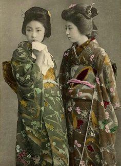 Geisha/Japan/historical photo/Dos
