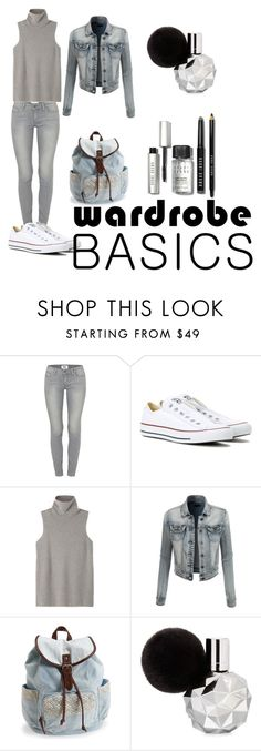 """""""Basics"""" by kivericdamira ❤ liked on Polyvore featuring Paige Denim, Converse, The Row, LE3NO, Aéropostale and Bobbi Brown Cosmetics"""