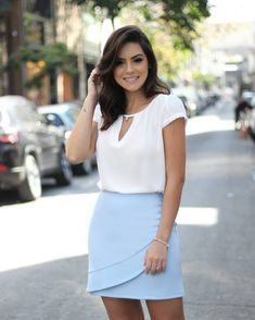 Classy Outfits, Cool Outfits, Summer Outfits, Summer Dresses, Moda Chic, Work Skirts, Office Fashion, Casual Chic, High Waisted Skirt