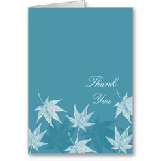 Maples Leaves thank you Cards