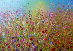'You plant flowers in my heart' by Yvonne Coomber (140cm x 100cm mixed media on canvas), £3080, available now at: http://www.lyndhurstgallery.co.uk/gallery_exhib.asp?id=102