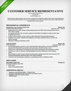 customer service resume professional